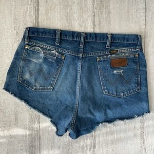 Vintage Wrangler Cheeky Cut Off Shorts Plus Size